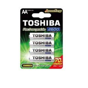 PILAS AA RECARGABLES TOSHIBA 2600mAh BLISTER 4 UNIDADES