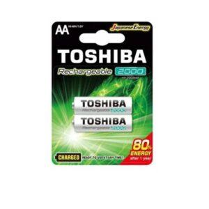 PILAS AA RECARGABLES TOSHIBA 2000mAh BLISTER 2 UNIDADES