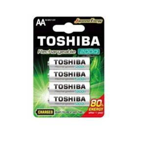 PILAS AA RECARGABLES TOSHIBA 2000mAh BLISTER 4 UNIDADES