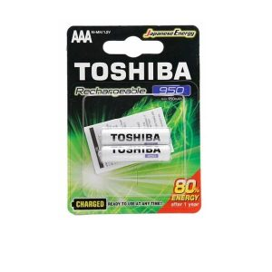 PILAS AAA RECARGABLES TOSHIBA 950mAh BLISTER 2 UNIDADES