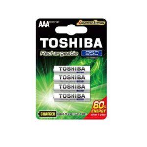 PILAS AAA RECARGABLES TOSHIBA 950mAh BLISTER 4 UNIDADES