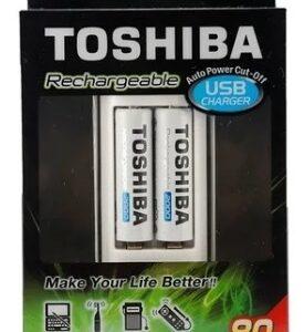 Cargador Usb De Pilas Ni-mh + 2 Aa 2000 Mah Toshiba